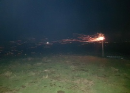 Beacon lighting at Abbotsbury Fort